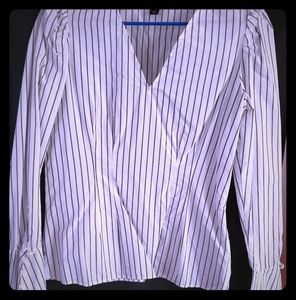 Ann Taylor Peplum Sleeve Blouse